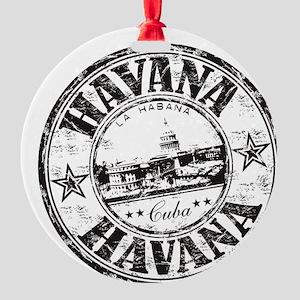 Cuba Round Ornament
