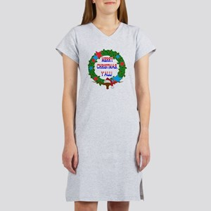 Merry Christmas, Y'all!  Holly  Women's Nightshirt