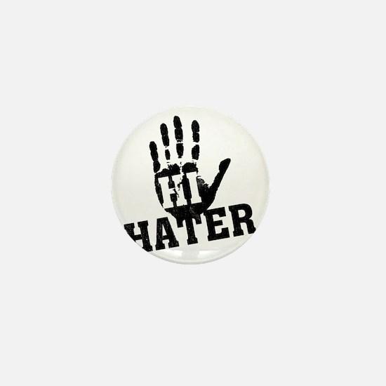 hi_hater_white-vintage Mini Button