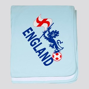 England Football Flag and Lion baby blanket