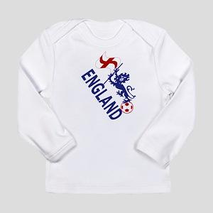 England Football Flag and Lion Long Sleeve T-Shirt