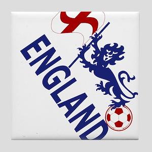 England Football Flag and Lion Tile Coaster