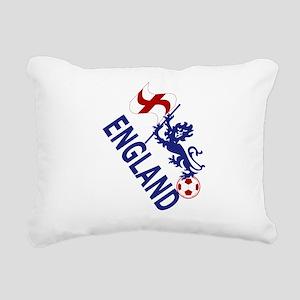 England Football Flag and Lion Rectangular Canvas
