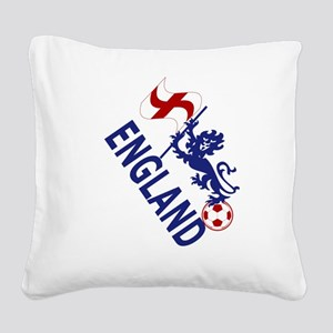England Football Flag and Lion Square Canvas Pillo