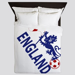 England Football Flag and Lion Queen Duvet