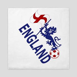 England Football Flag and Lion Queen Duvet