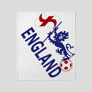 England Football Flag and Lion Throw Blanket