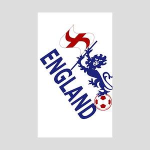 England Football Flag and Lion Sticker
