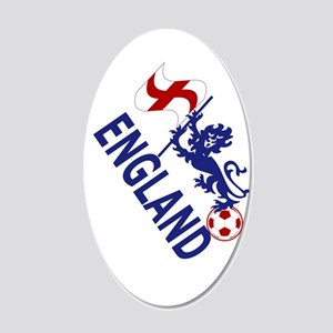 England Football Flag and Lion Wall Decal