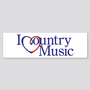 I Heart Country Music Bumper Sticker