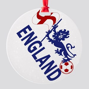 England Football Flag and Lion Ornament