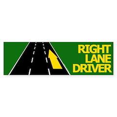 Right Lane Driver Bumper Bumper Sticker