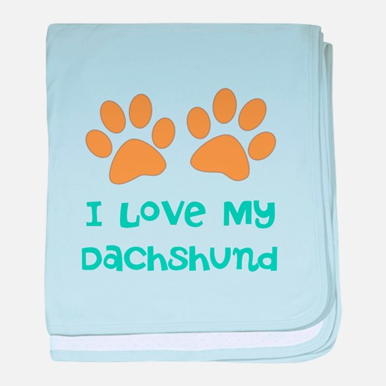 Personalized Paw Print Dog Breed baby blanket