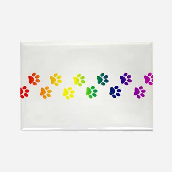 Paws All Over You Rectangle Magnet