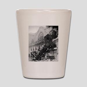 Train Wreck Shot Glass