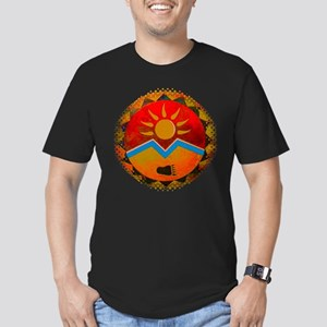 Sun Bear Men's Fitted T-Shirt (dark)