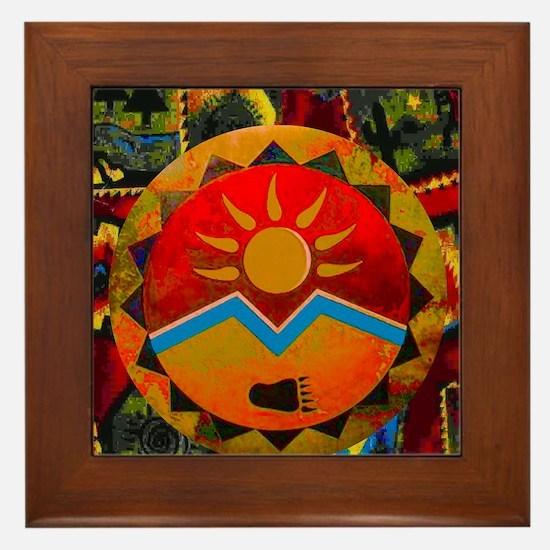 Sun Bear Framed Tile
