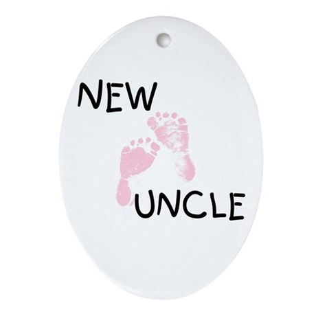 New Uncle (pink) Oval Ornament
