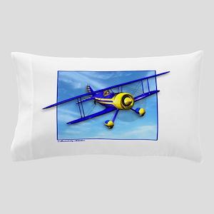 Cute Blue & Yellow Biplane Pillow Case