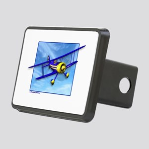Cute Blue & Yellow Biplane Rectangular Hitch Cover