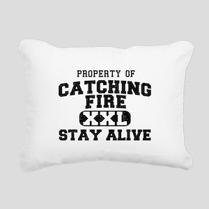 XXL Catching Fire Rectangular Canvas Pillow