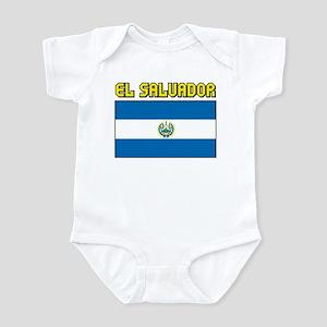 El Salvador Flag Infant Bodysuit