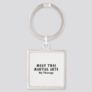 Muay Thai Martial Art My Therapy Square Keychain