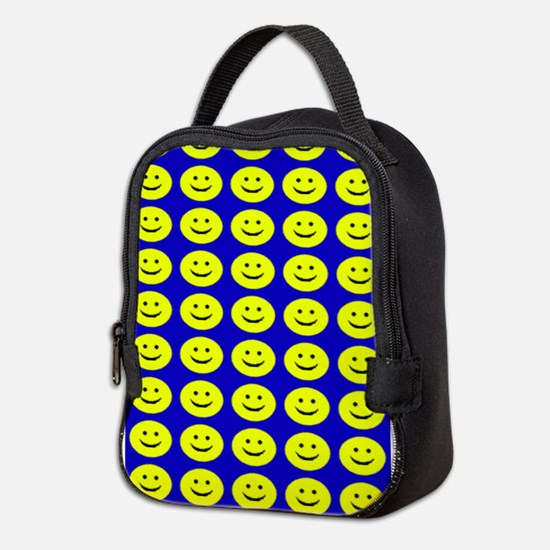 Yellow Smilies Neoprene Lunch Bag