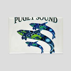 Puget Sound Orcas Magnets