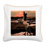 Wild Mustang ~ Square Canvas Pillow