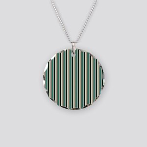 Green Striped Pattern Necklace