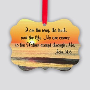 JOHN 14:6 Picture Ornament