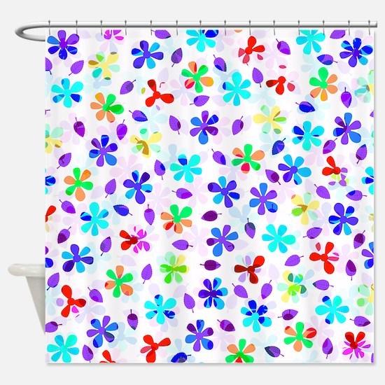 Retro Flowers Shower Curtain