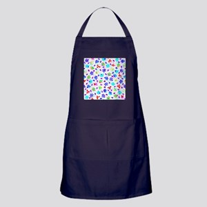Retro Flowers Apron (dark)