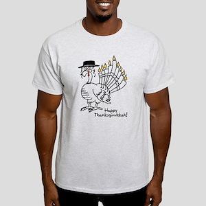 Turkey Menorah Color T-Shirt
