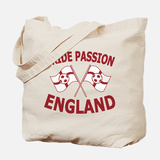 England Football Soccer Flags Tote Bag
