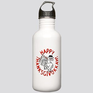 Happy Thanksgivukkah! Water Bottle