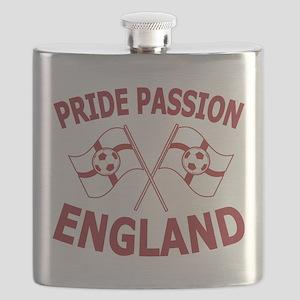 England Football Soccer Flags Flask