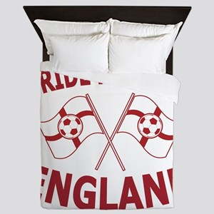 England Football Soccer Flags Queen Duvet