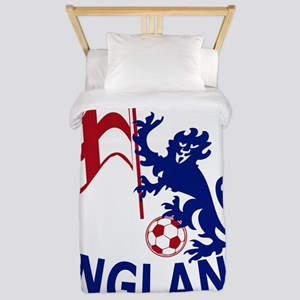 Footballing lion with St Georges Cross England fla