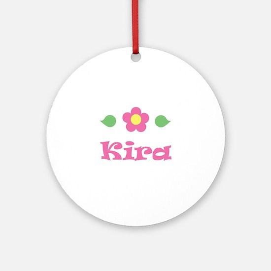 """Pink Daisy - """"Kira"""" Ornament (Round)"""
