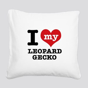 I love my Leopard Square Canvas Pillow