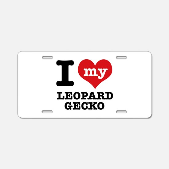 I love my Leopard Aluminum License Plate