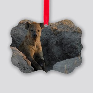 Hyena and Cub Picture Ornament