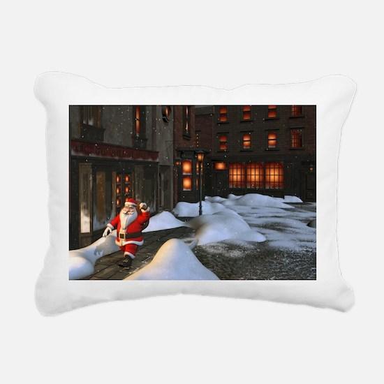 Santa is coming 4 Rectangular Canvas Pillow
