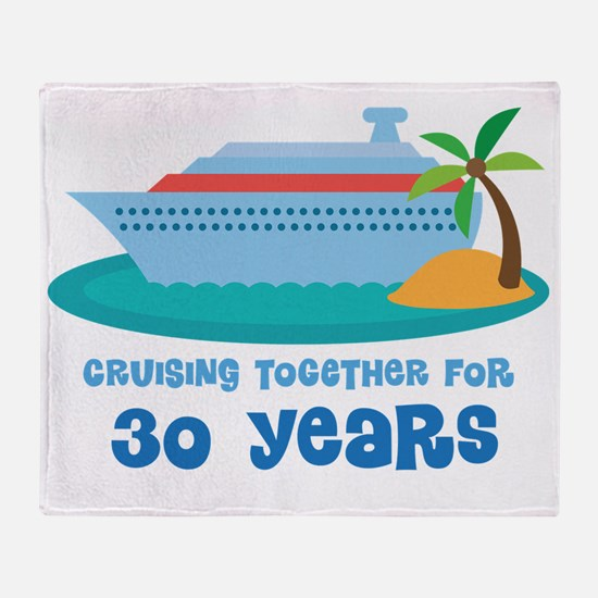 30th Anniversary Cruise Throw Blanket