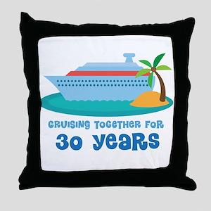 30th Anniversary Cruise Throw Pillow