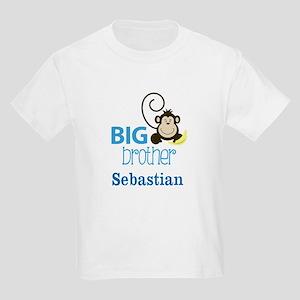 Big Brother Monkey Kids Light T-Shirt - Add name