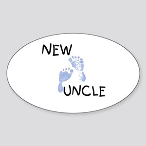 New Uncle (blue) Oval Sticker