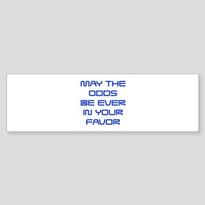 may-the-odds-saved-blue Bumper Sticker
